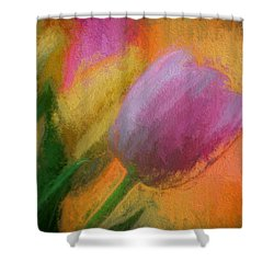Tulip Abstraction Shower Curtain