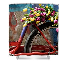 Tulip Bike Shower Curtain