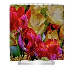 Tulip Bouquet Shower Curtain by Sandy Moulder