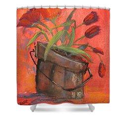 Tulip Bucket Shower Curtain