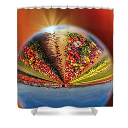 Shower Curtain featuring the photograph Tulip Farm Reflections And Refractions by Susan Candelario