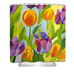 Tulip Fest Shower Curtain by Meryl Goudey