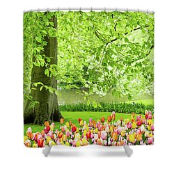 Tulip Garden - Amsterdam Shower Curtain