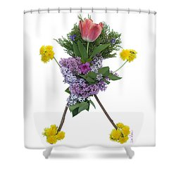 Shower Curtain featuring the digital art Tulip Head by Lise Winne