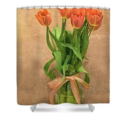 Tulip Impasto Shower Curtain