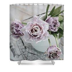 Shower Curtain featuring the photograph Tulip Ruffles by Kim Hojnacki