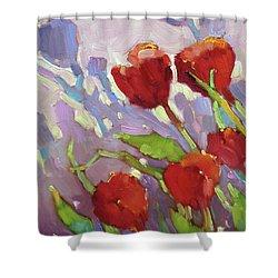 Tulip Shdows Shower Curtain