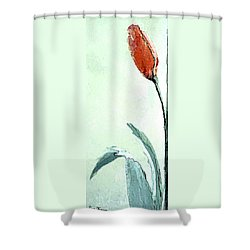 Tulip Today Shower Curtain by Lisa Kaiser