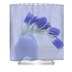 Tulips And Birdies  Shower Curtain
