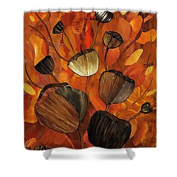 Tulips And Violins Shower Curtain by Sarah Loft