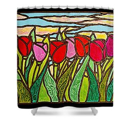 Tulips At Sunrise Shower Curtain