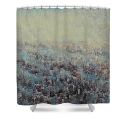 Shower Curtain featuring the painting Tulips Dance Abstract 3 by Jane See