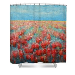Tulips Dance Abstract 4 Shower Curtain by Jane See
