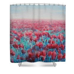 Tulips Dance Shower Curtain by Jane See
