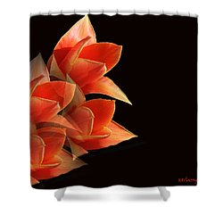 Tulips Dramatic Orange Montage Shower Curtain