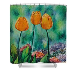 The Three Tulips Shower Curtain