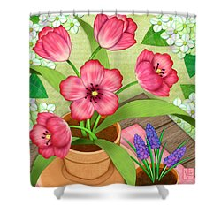Tulips On A Spring Day Shower Curtain