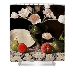 Typical Tulips Shower Curtain