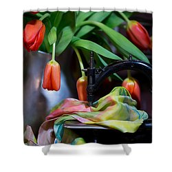 Shower Curtain featuring the photograph Tulips by Sharon Jones