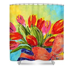 Tulips Tied Up Shower Curtain