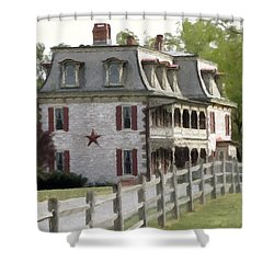 Tulpehocken Manor Plantation Historic Site  Shower Curtain by David Dehner