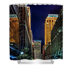 Tulsa Nightlife Shower Curtain by Tamyra Ayles