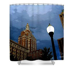 Tulsa Streetscape Shower Curtain