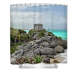 Tulum Mexico Shower Curtain