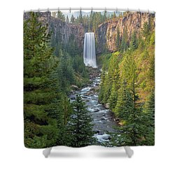 Tumalo Falls In Bend Oregon Shower Curtain by David Gn