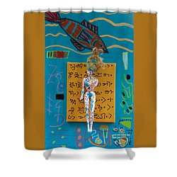 Shower Curtain featuring the painting Turmeric Herbal Tincture by Clarity Artists
