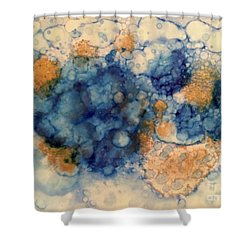Shower Curtain featuring the painting Tundra by Denise Tomasura