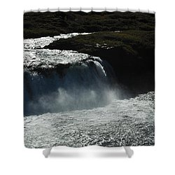 Tungufljot River And Faxi Falls Shower Curtain by David Halperin