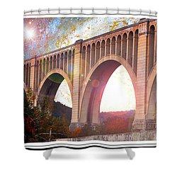 Tunkhannock Viaduct, Nicholson Bridge, Starry Night Fantasy Shower Curtain