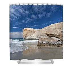 Tunnel Beach 1 Shower Curtain