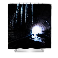 Tunnel Icicles 2 Shower Curtain