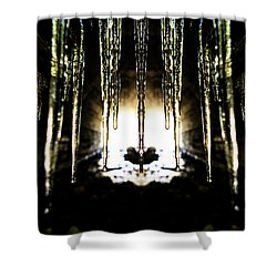 Tunnel Icicles Reflection Shower Curtain