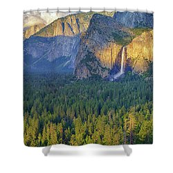 Tunnel View At Sunset Shower Curtain by Rick Berk