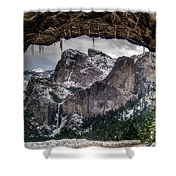 Shower Curtain featuring the photograph Tunnel View From The Tunnel by Bill Gallagher