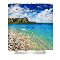 Tunnels Beach Shower Curtain by Chad Berglund