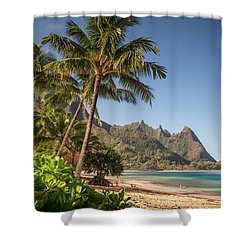 Tunnels Beach Haena Kauai Hawaii Bali Hai Shower Curtain