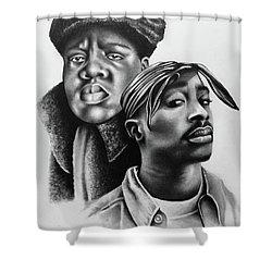 Tupac And Biggie Shower Curtain
