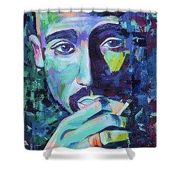 Tupac Shower Curtain