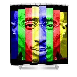 Tupac Stripes  Shower Curtain