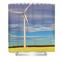 Turbine Formation Shower Curtain