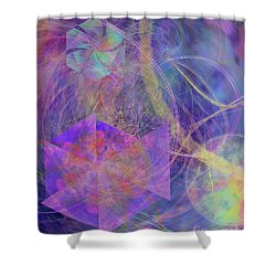 Turbo Blue Shower Curtain by John Beck