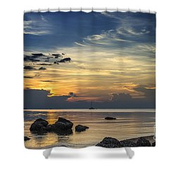 Turbulences Shower Curtain