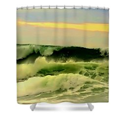 Turbulent Ocean Swell Shower Curtain