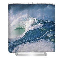 Turbulent Shorebreak Shower Curtain by Vince Cavataio - Printscapes