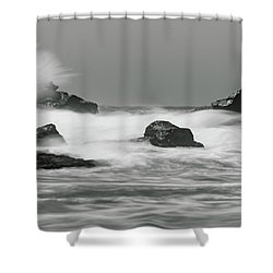 Turbulent Thoughts Shower Curtain