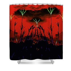 Turkey Foot Cloud Eagle Abstract Shower Curtain